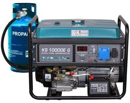 Agregat prądotwórczy KONNER & SOHNEN KS 10000E G + Olej + Zestaw Transportowy