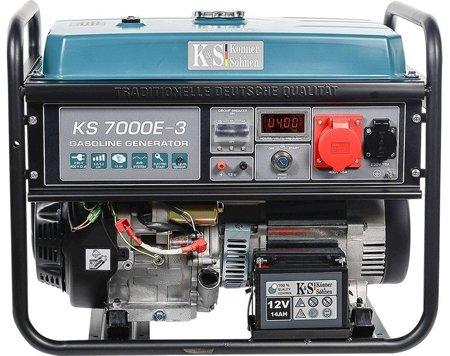 Agregat prądotwórczy KONNER & SOHNEN KS 7000E-3 + Olej + Zestaw Transportowy