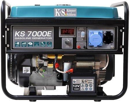 Agregat prądotwórczy KONNER & SOHNEN KS 7000E + Olej + Zestaw Transportowy